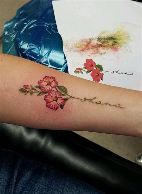 ohana tattoo hibiscus quot ohana quot tattoos ohana