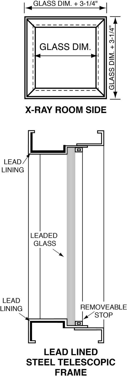 lead glass for x room x glass leaded glass radiation shielding glass