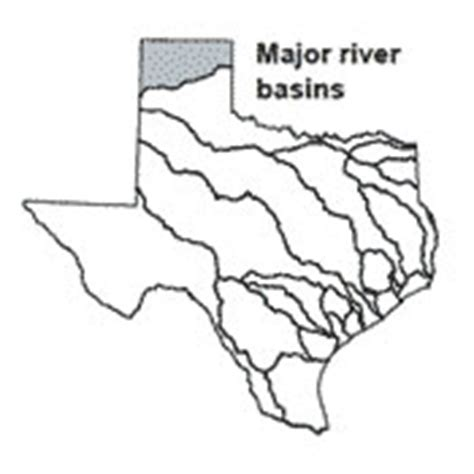 canadian river texas map river basins canadian river basin texas water development board