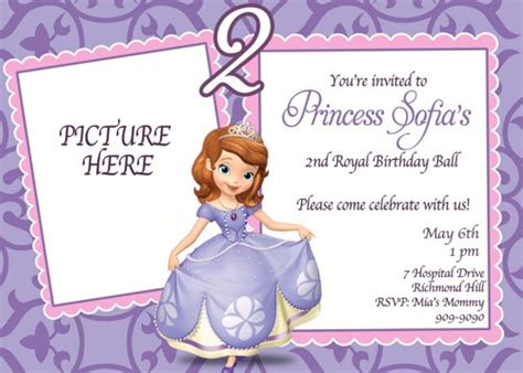 printable invitations of sofia the first princess sofia birthday invitations ideas bagvania free