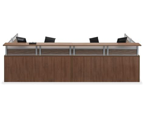 Office Source Borders Ii Series Reception Desk 2 Person Reception Desk