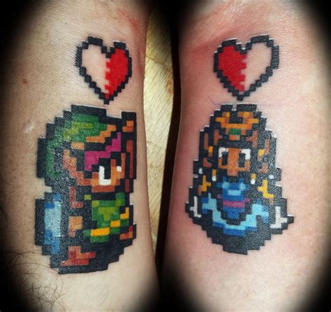 link tattoo designs 15 awesome couples tattoos pop culture edition ariel