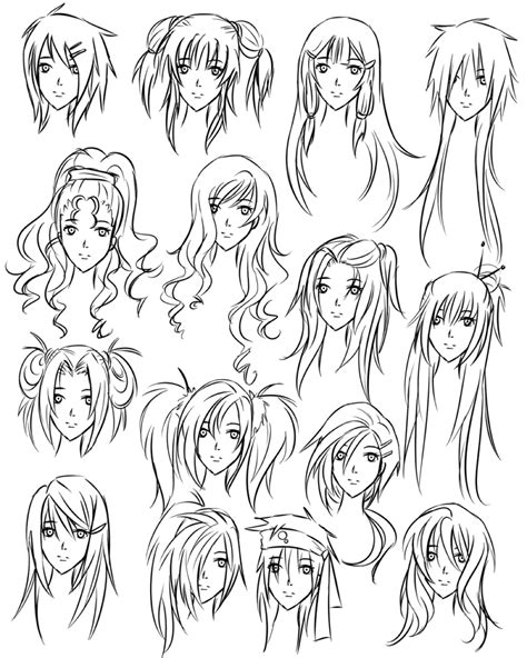 anime hairstyles to draw anime girl hair drawing drawing girl hair styles how to
