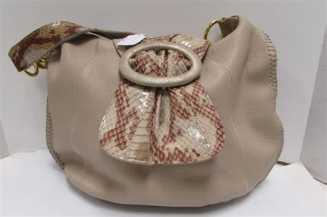 Carlos Falchi Medium Boat Hobo by Chi Purse Leather Falchi Hobo Bag