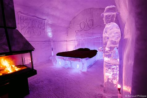 hotel de glace quebec s h 244 tel de glace unveils 2016 design made of 500