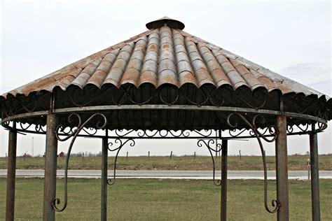 tiki hut gazebo all metal tiki hut gazebo wrought iron yard structure