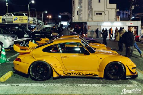 porsche rauh welt rwb porsche meet at roppongi japan stancenation