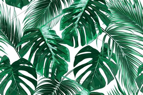 banana palm wallpaper australia tropical leaves vector pattern patterns creative market