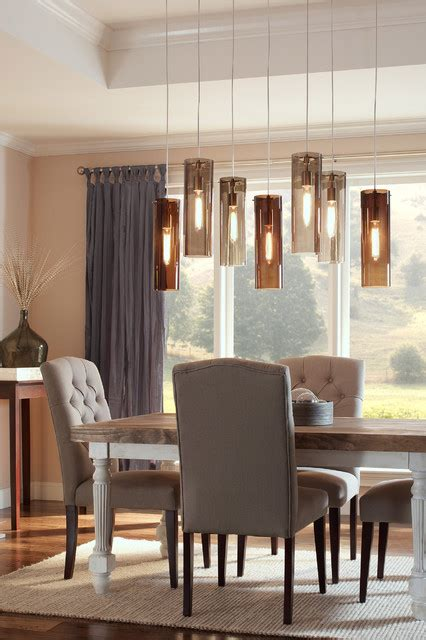 Pendant Lights Dining Room Tech Lighting 700tdbcnpbs Beacon Pendant W Brown Shade Contemporary Dining Room