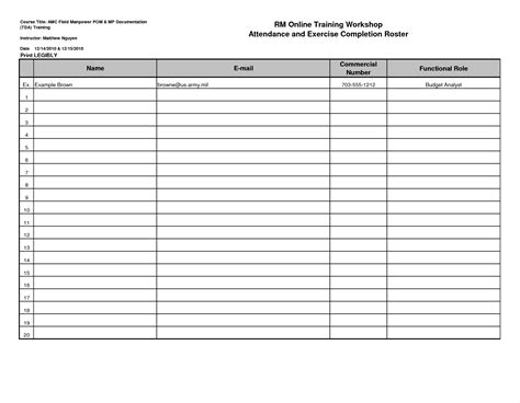attendance sheet excel template free printable certificate of