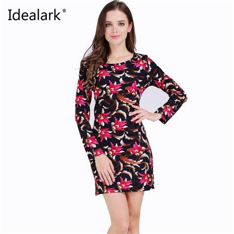 aliexpress buy idealark plus size clothing fashion flower print dress