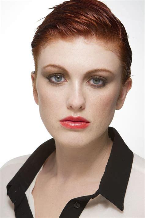 supermodels short hair virginia petrucci model redhead short hair pixie