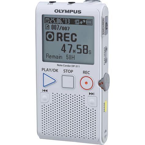 2gb digital voice recorder olympus 2gb dp 311 digital recorder v412131wu000 b h photo