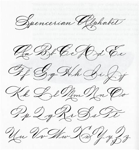 Letter Style Of Writing spencerian spencerian script fonts