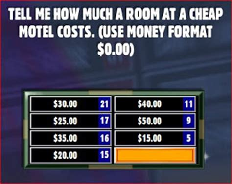 how much is a motel room for a few hours family feud answers tell me how much a room at a cheap motel costs