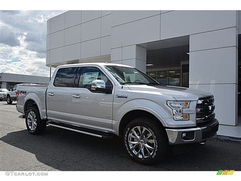 silver ford 2017 ingot silver ford f150 lariat supercrew 4x4