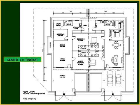 layout plan rumah pelan rumah banglo setingkat setengah joy studio design