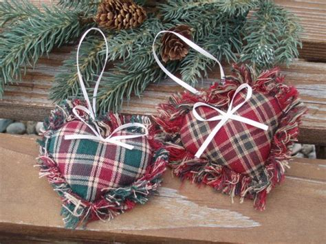 country christmas ornaments to make items similar to fabric ornament country decoration on etsy