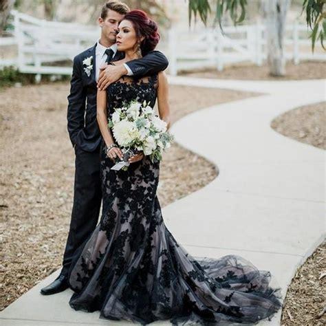 Black Dress Wedding by Black Lace Wedding Dresses Naf Dresses