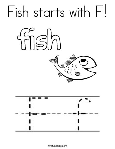 F Fish Coloring Page by Fish Starts With F Coloring Page Twisty Noodle
