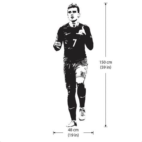 Football Wall Sticker antoine griezmann football player vinyl wall art decal