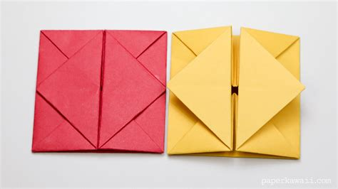 Printable Origami Envelope Instructions | origami envelope box instructions paper kawaii