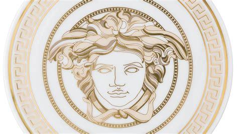 Ralph Lauren Home Interiors by Versace Set Of 2 Medusa Gala Coasters Buy Online At Luxdeco