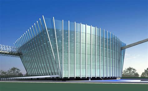 building exterior office building with glass exterior 3d model max 3ds