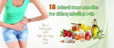 18 common home remedies for kidney infection