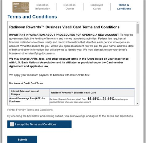 credit card terms and conditions template business credit card terms and conditions image