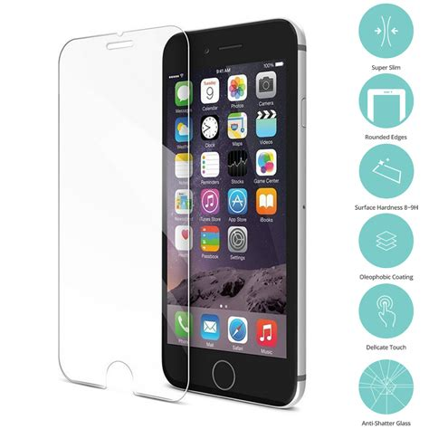 Tempered Glass Iphone 6 6s Screen Guard Warna Color Nano Slim Premium for iphone 6 plus 6s plus tempered glass screen protector ebay