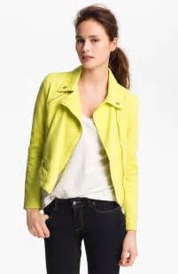 colored denim jackets steve madden colored denim moto jacket in yellow bright
