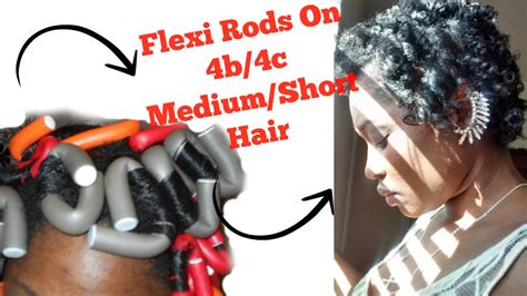 flexi rod stretch long 4b c hair roller set on flexi rods hairstylegalleries com