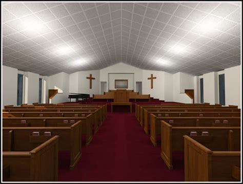 Free Church Chairs Donation by Church Pews Pulpit 3d Max