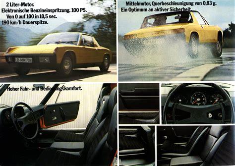 Porsche W V by 1969 Vw Porsche 914 Brochure