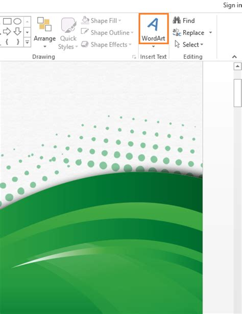 powerpoint themes disappeared how to use the missing word art feature in powerpoint 2013
