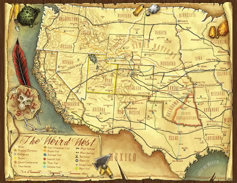 western map heropress map a monday go west