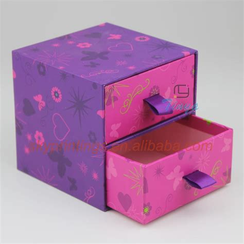 How To Make A Small Box Out Of Construction Paper - cardboard sliding gift box with pull out drawer buy