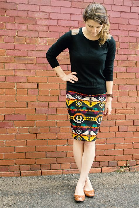 wear it pair it the tribal pencil skirt trend