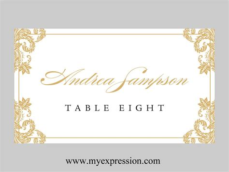 fresh place card template word best templates