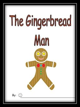 printable emergent reader gingerbread man 7 best images about holiday books on pinterest