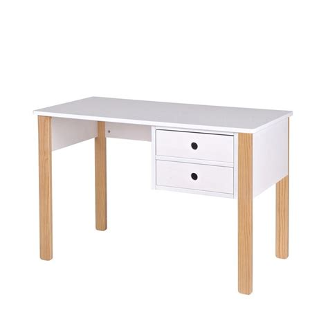 bureau pin massif bureau enfant pin massif blanc tipi by drawer