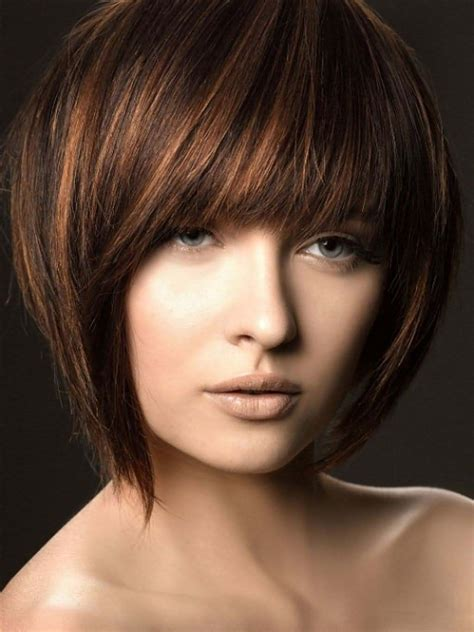 short hair cuts with dark brown color with carmel highlights dark brown hair a touch of brown pinterest hair