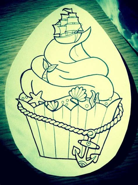 pinup mermaid tattoo mermaid cupcake instead of the ship a pin
