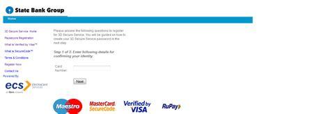 Sbi Gift Card Activation - sbi 3d secure code registration activation reset process in 3 steps
