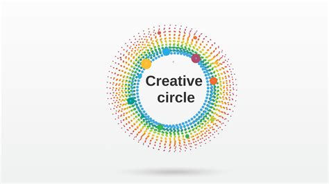 Creative Circle Prezi Template Prezibase Innovative Creative Circle Presentation