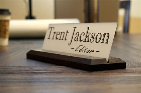 Custom Desk Signs by Personalized Desk Name Plate Garo Signs Unique Office Sign 10