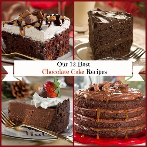 best cake recipes our 12 best chocolate cake recipes mrfood