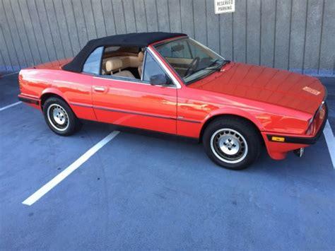 1987 maserati zagato 1987 maserati zagato biturbo cabrio for sale maserati