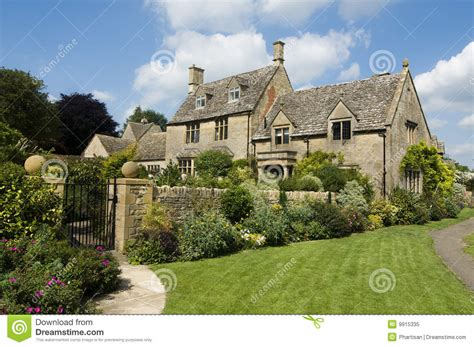 british houses english country homes made from stone stock image image